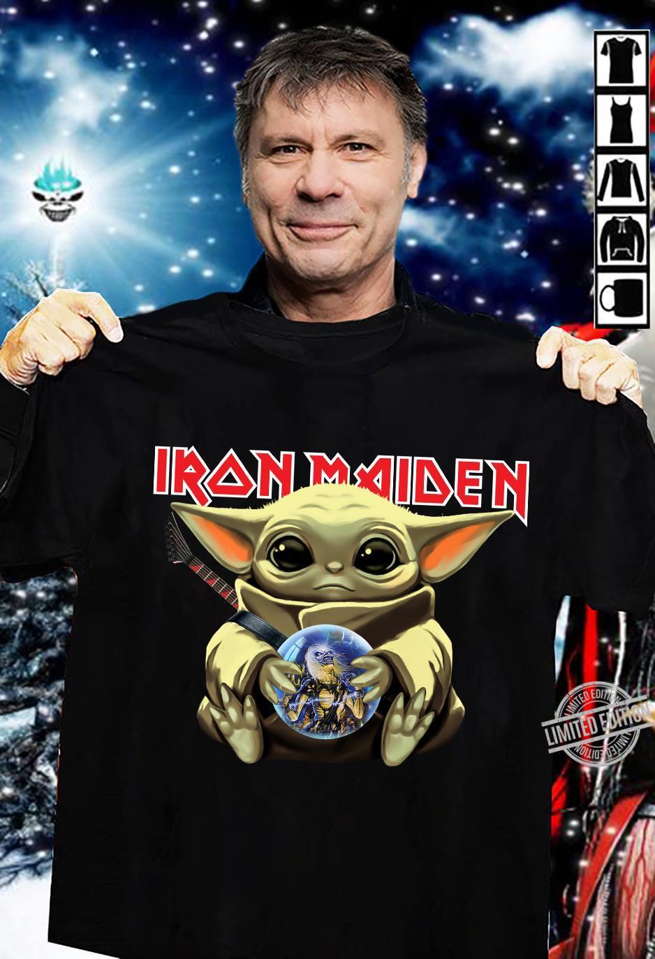 Baby Yoda Hug Iron Maiden Shirt