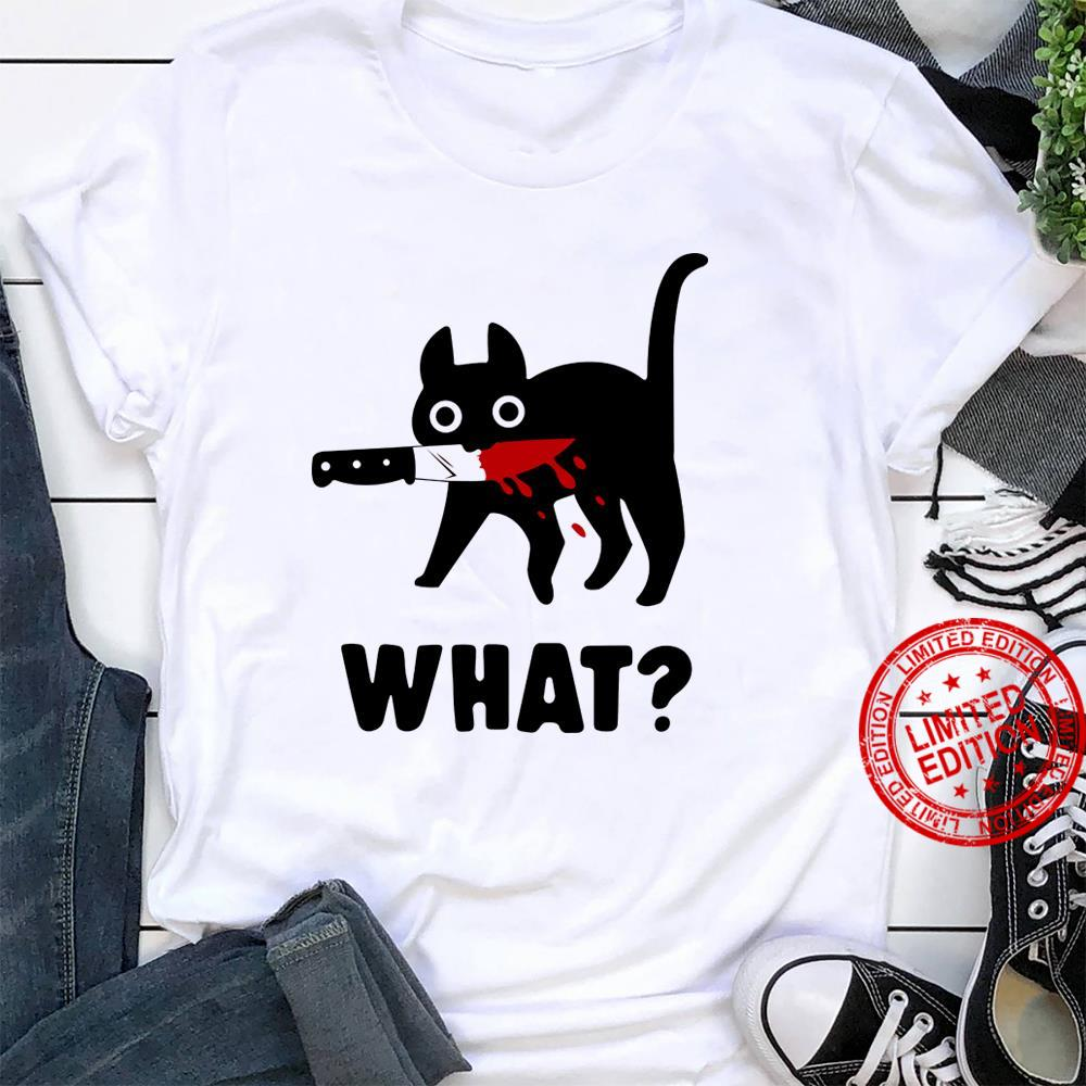 Cat With Knife What Shirt