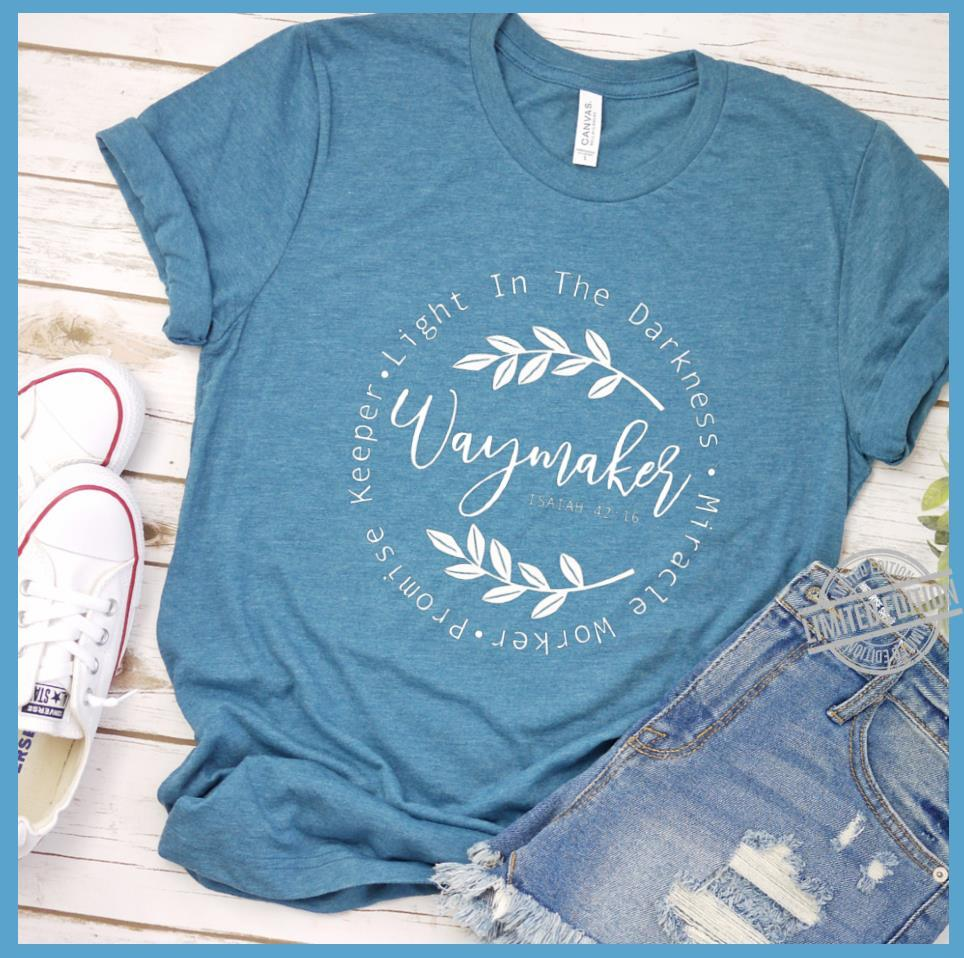 Keeper Light In The Darkness Miracle Worker Promise Way Maker Shirt