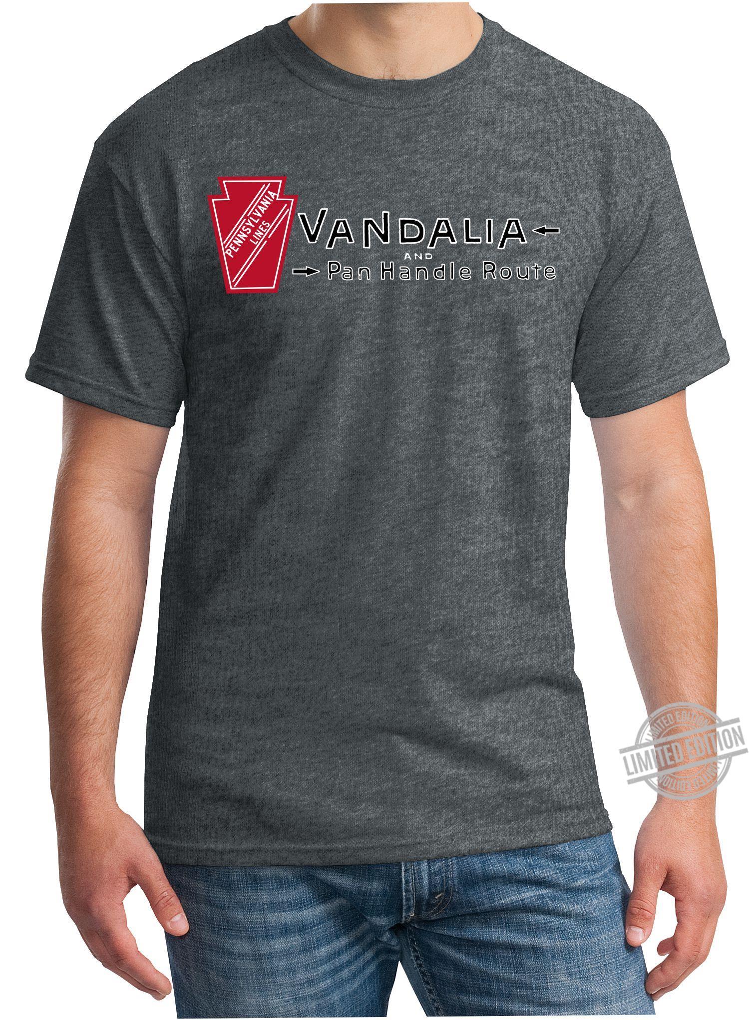 Pennsylvania Lines Vandalia And Pan Handle Route Shirt
