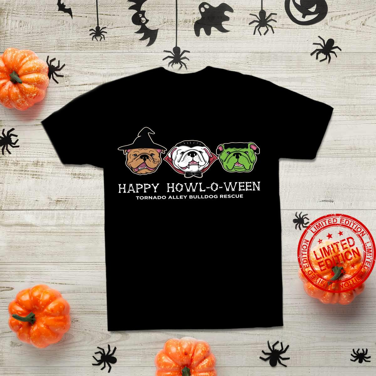 Pitpull Witch Happy Howl-o-ween Tornado Alley Bulldog Rescue Shirt