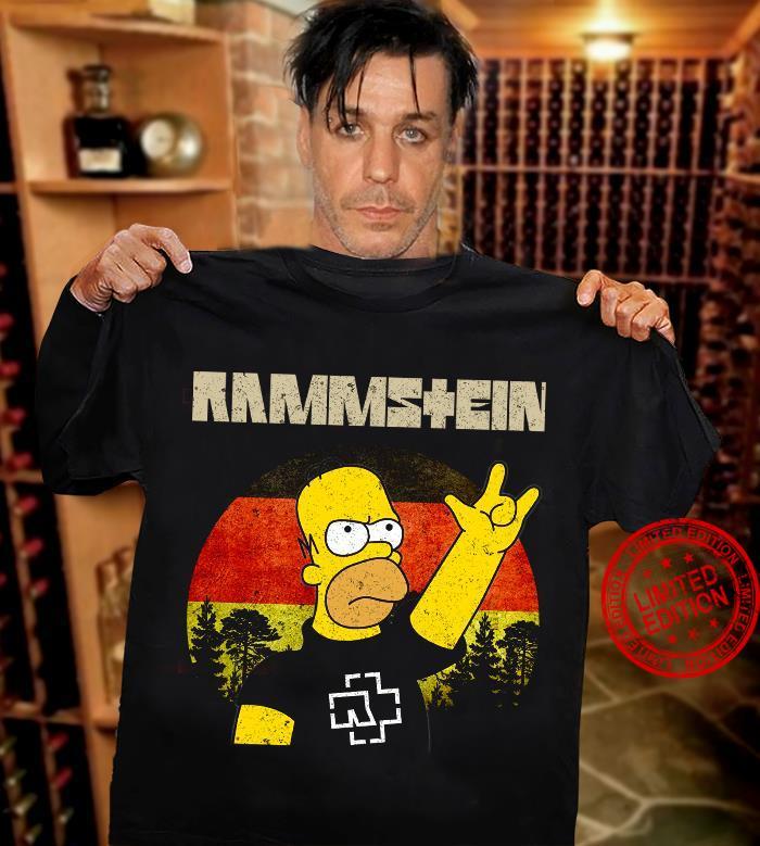 Rammstein Homer Simpson shirt