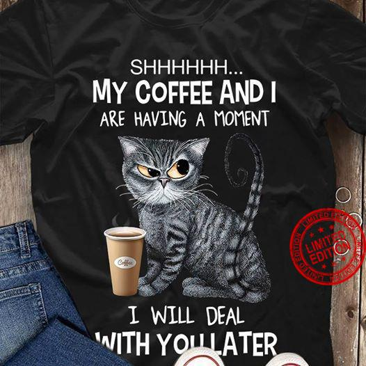 Shhhhh My Coffee And I Are Having A Moment I Will Deal With You Later Shirt