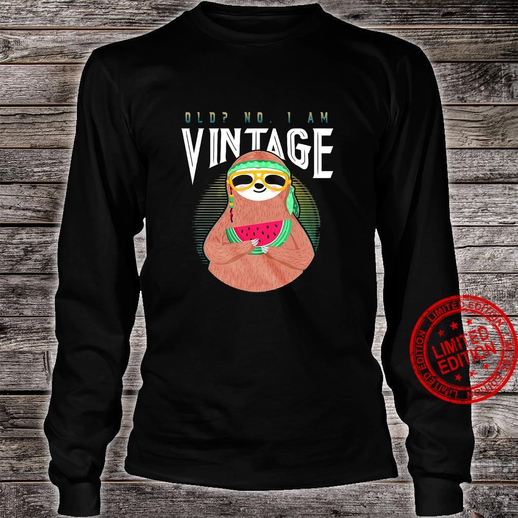Sloth Old No I Am Vintage Shirt long sleeved