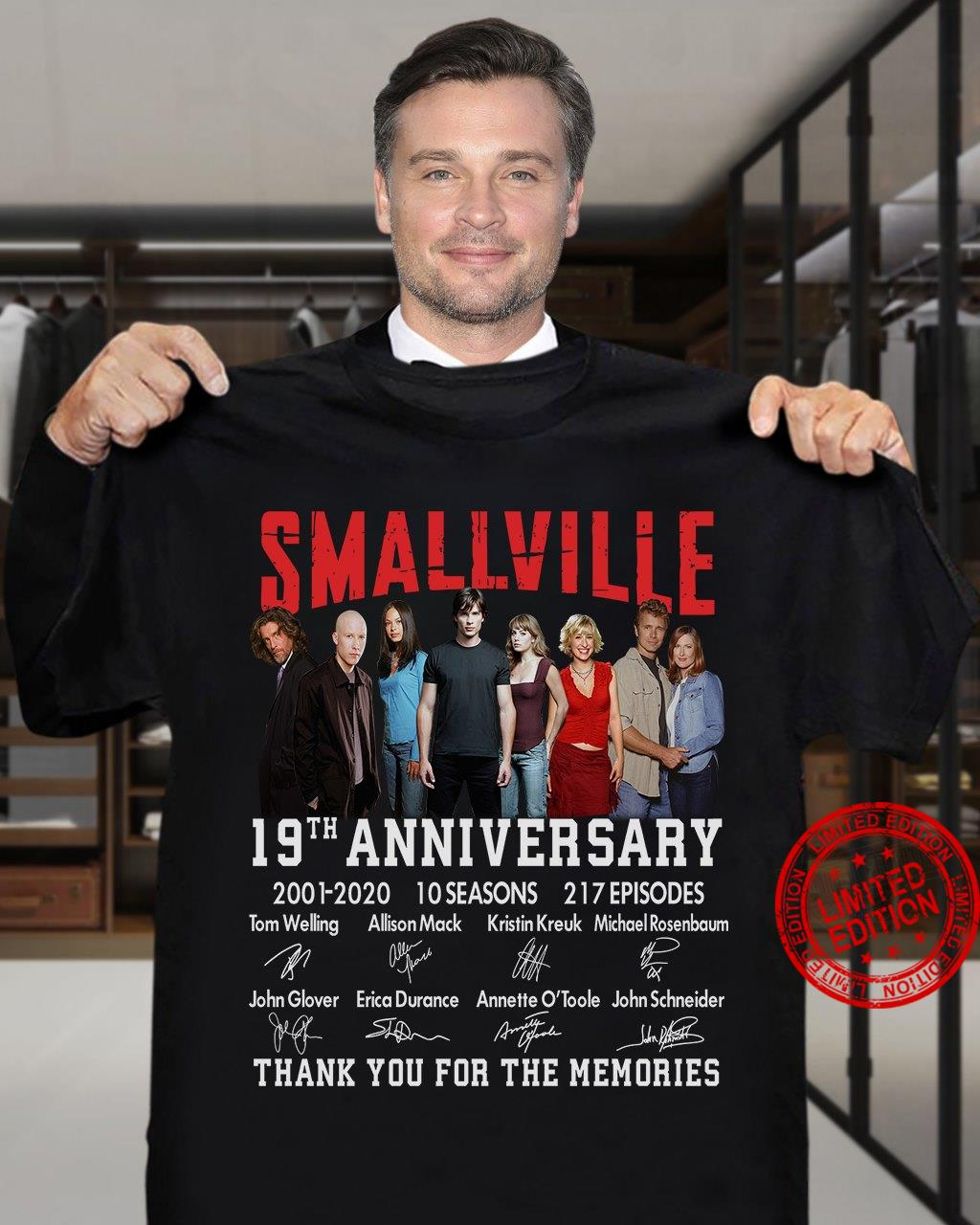 Smallville 19th Anniversary 2001-2020 10 Seasons 217 Episodes Thank You For The Memories Shirt