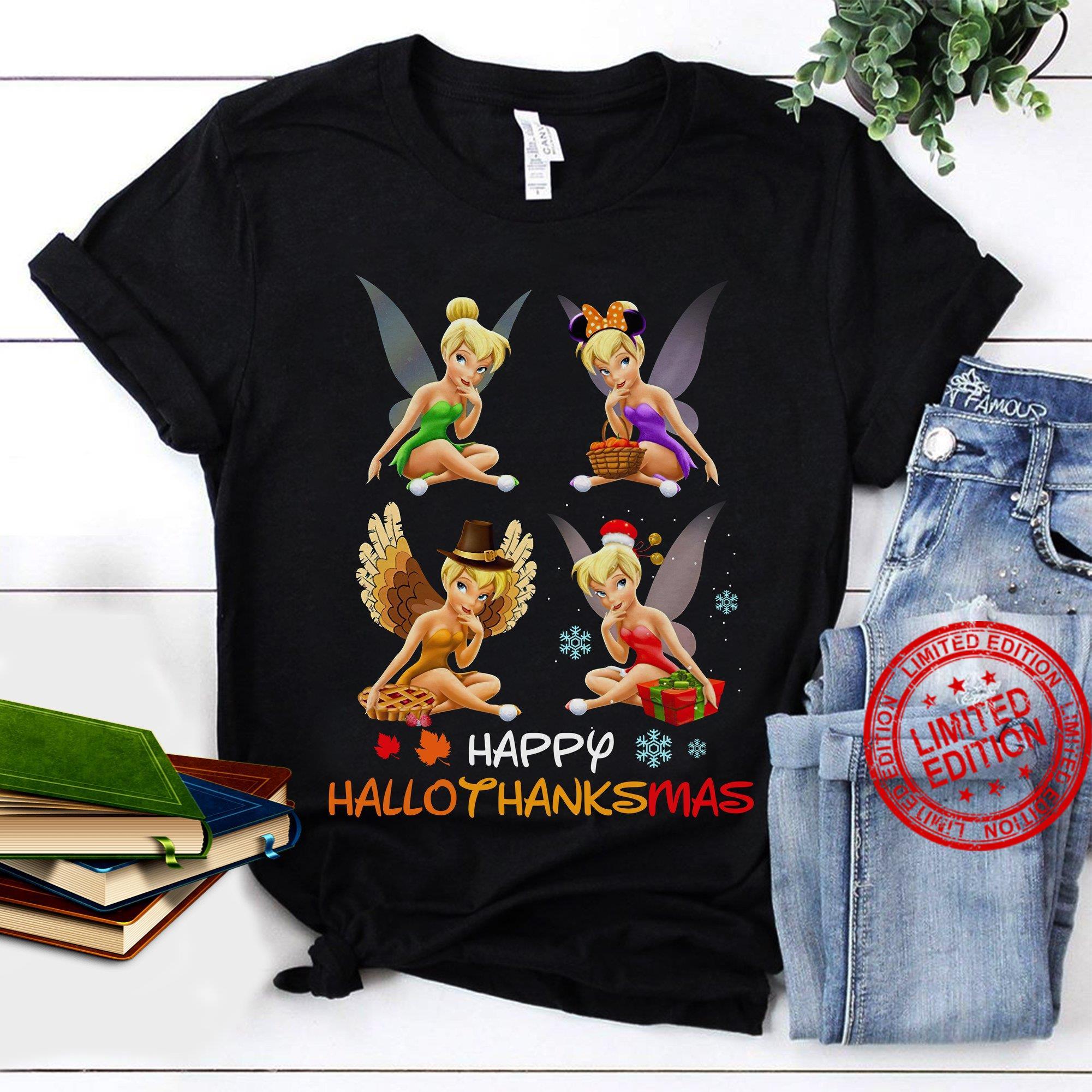 Tinkerbell Happy Hallothanksmas Shirt