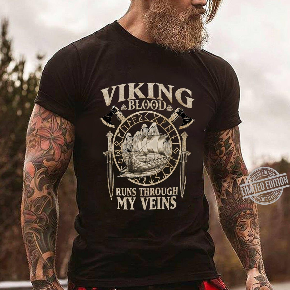 Viking Blood Runs Through My Veins Shirt