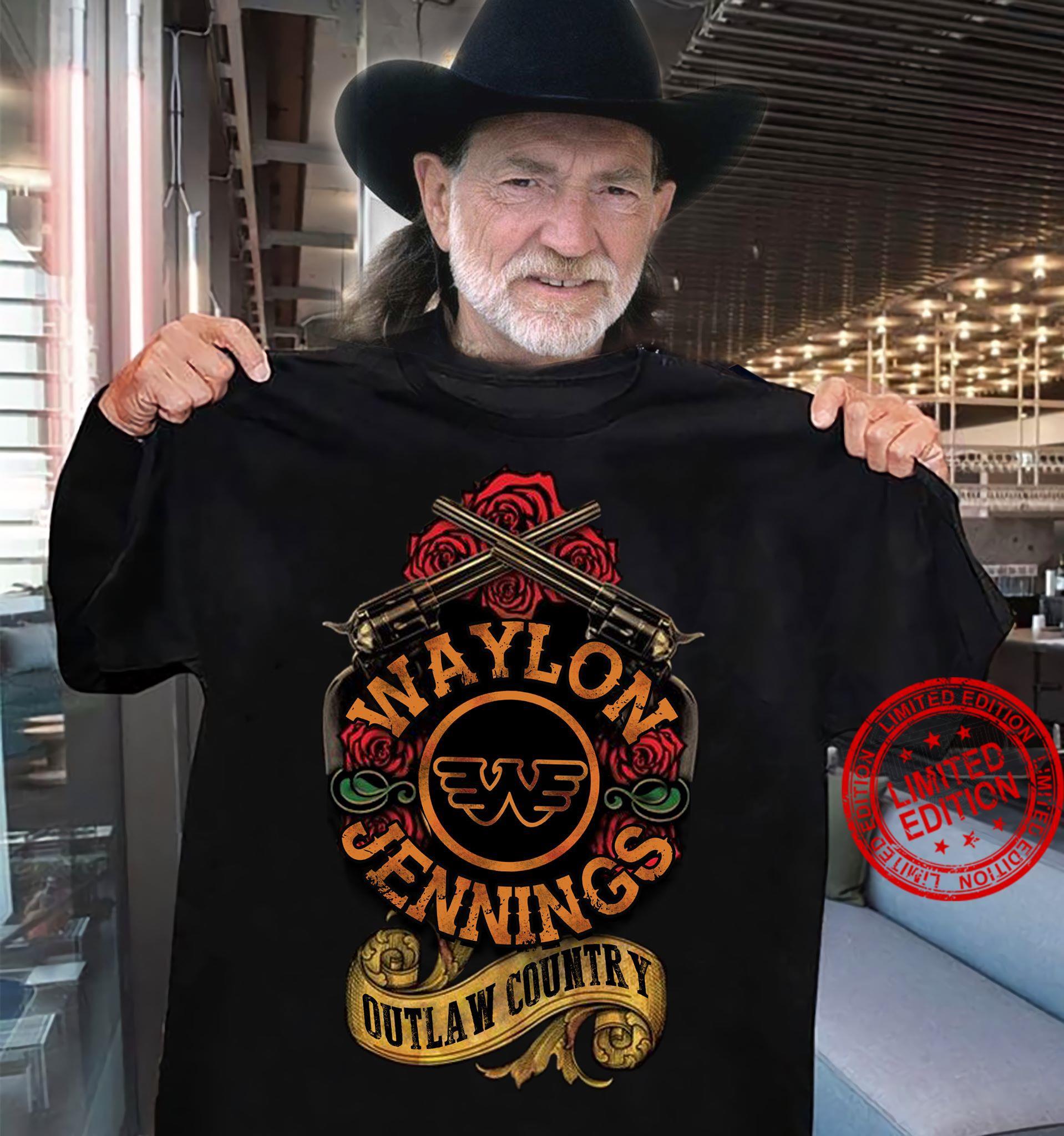 Waylon Jennings Outlaw Country Shirt